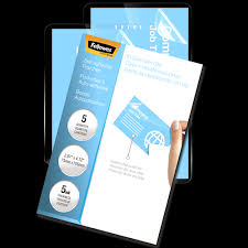 business card laminator business card laminating pouches fellowes