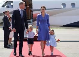 duchess of cambridge dresses in u0027berlin blue u0027 for arrival in germany