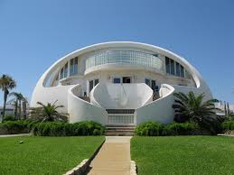dome house in florida united states is the beautiful white house
