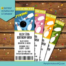 bowling party invitation wording samples 5 super ideas