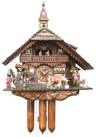 cuckoo clock 8 day movement chalet style 60cm by hönes 86230t