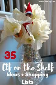 elf on the shelf shopping list u0026 one month of elf on the shelf