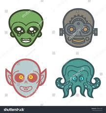 Cute Halloween Monster by Vampire Alien Robot Octopus Monster Cute Stock Vector 234521683