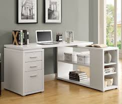 Computer Desk In White by Monarch Specialties 7023 Left Or Right Facing Corner Desk In White
