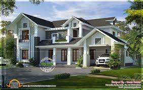 western style house rendering kerala home design and western
