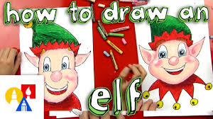 how to draw a christmas elf face youtube