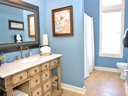 bathroom amazing interior desing in living room with blue wall