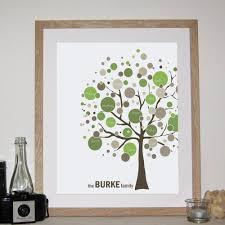 family tree personalised print
