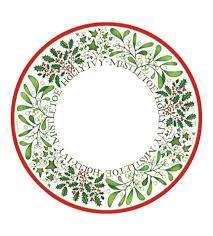 christmas plate christmas paper plates and napkins