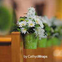 Pew Clips Cathyswraps Create Beautiful Wedding Aisle Decorations And