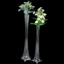 Eiffel Tower Vases In Bulk Bulk Lot 12 X Clear Glass Eiffel Tower Vases Wedding Centerpiece 50cm