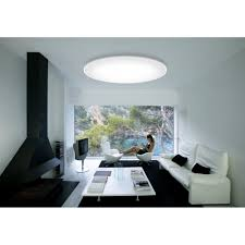 Flush Ceiling Lights Living Room by Vibia 0530 Big Flush Ceiling Light In Chrome With Acrylic Diffuser
