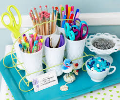 and clever ideas for organizing crafts supplies