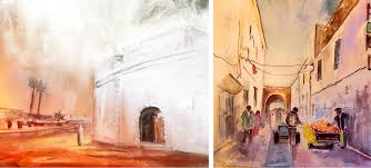 creating impressions of places the colourful travel paintings of