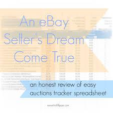Ebay Spreadsheet Easy Auctions Tracker Review Thrift Flipper