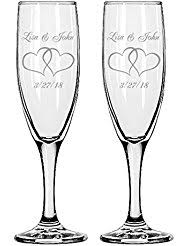 personalized glasses wedding personalized chagne glasses wine chagne