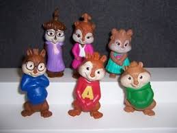 alvin and the chipmunks cake toppers alvin and the chipmunks talking mcdonald complete set chipettes