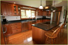 cherry wood kitchen cabinets with black granite home design ideas