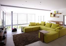 exquisite family room with lime green sofa residence in kifisia