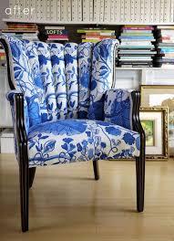 Reupholster Chair Before U0026 After Reupholstered Chair U2013 Design Sponge