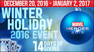 marvel heroes 2016 winter event guide collect all 12