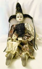 mardi gras jester dolls 18 collectible porcelain harlequin musical jester clown mardi