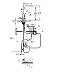 grohe essence foot control electronic kitchen sink mixer tap grohe essence foot control electronic kitchen sink mixer tap technical drawing qs v87043 30311000
