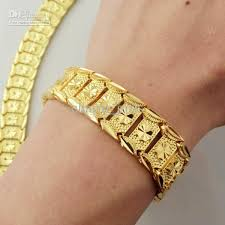 new arrival fashion 24k gp gold plated mens women 2018 brand new 44g men 24k yellow gold gep solid fill gp bracelet