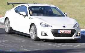 brz subaru silver sti badged subaru brz spotted testing at the nurburgring