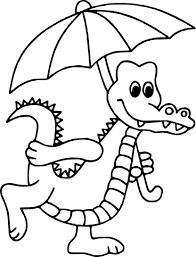 Coloriage crocodile à imprimer