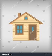 small wooden house front view stock vector 191811413 shutterstock