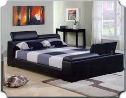 Leather Bed Headboards Furniture Fetching Bedroom Decoration With Black Leather Bed