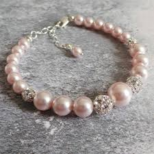 pink pearl bracelet images Ella pink pearl bridal bracelet by jewellery made by me jpg