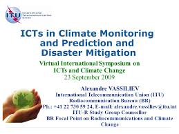 bureau int r icts in climate monitoring and prediction and disaster mitigation
