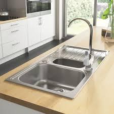 sinks kitchen sinks and taps b u0026q kitchen sinks metal q