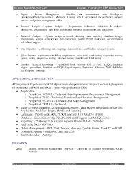 Oracle Pl Sql Resume Sample by Download Peoplesoft Administration Sample Resume