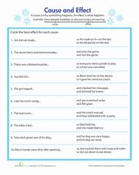 identifying cause and effect worksheet education com