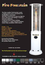 patio heaters bunnings outdoor patio heaters australia home gold coast fireplace and