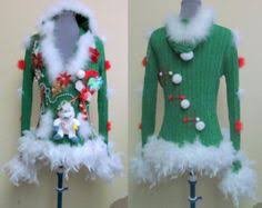 cute flirty grinch me tacky ugly christmas sweater foofoo feather