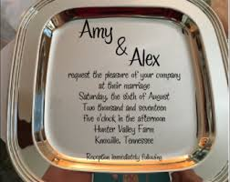 engraved tray tray engraved tray wedding invitation on tray wedding gift