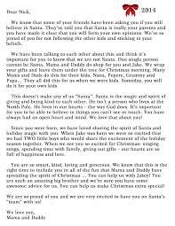 is santa real letter santa explanation letter zimbio oh my
