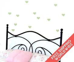 stickers chambre bébé garcon cœur vert lime pâle coeur autocollants muraux stickers chambre