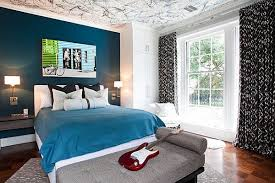 Beautiful Dark Blue Wall Design Ideas - Dark blue bedroom design