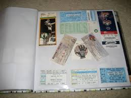 ticket stub album solution for those ticket stubs made to order organizing