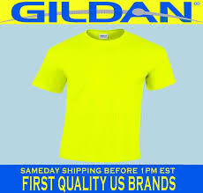 gildan safety yellow green t shirt lot 12 s xl ansi high
