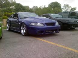 2000 Black Mustang Gt Mustang 1995 Cobra R Style Hood Unpainted 99 04 All Free