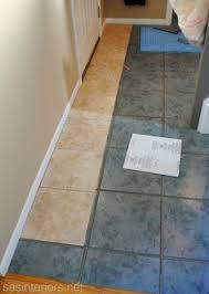 groutable vinyl tile slate floor update a standard sized bathroom