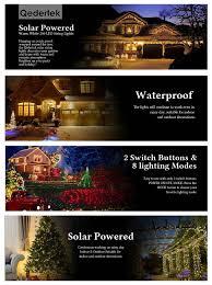 Solar Powered Halloween Lights by Qedertek Solar Christmas Lights 72ft 200 Led Fairy Garden String