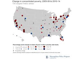 Map Of Us Without Names U S Concentrated Poverty In The Wake Of The Great Recession