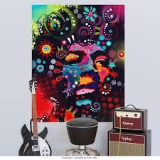 jimi hendrix dean russo pop art wall decal rock star wall decor pop art wall decal zoom
